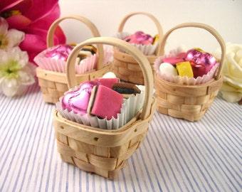 12 pcs Assorted Mini Picnic Basket - Favor Boxes (ENWF-RD2832-55)