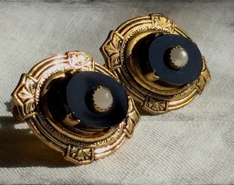 1900's Victorian Mourning Earrings