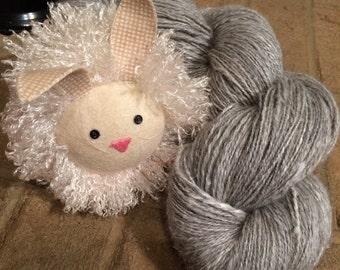 Handspun Laceweight French Angora/Silk Yarn 3.6oz - 540yds