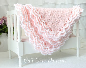 Crochet Baby Blanket PATTERN 100 - Iris- Crochet PATTERN 100 - Instant Download