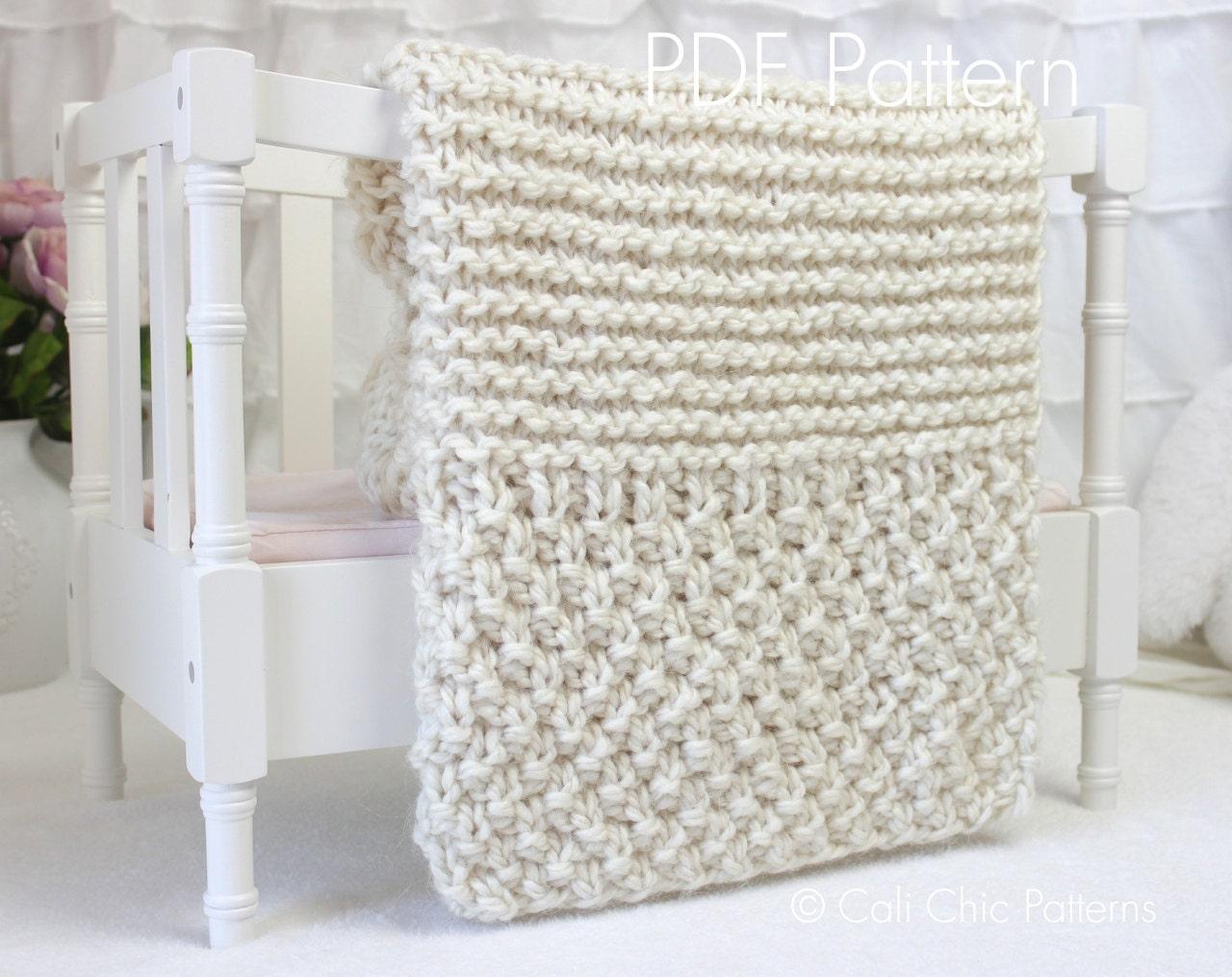 Funky Beginner Baby Blanket Knitting Pattern Motif - Easy Scarf ...