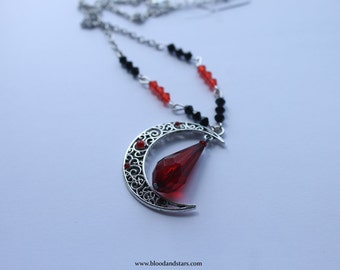 Gothic Filigree Moon necklace