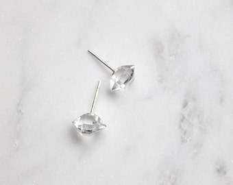 Herkimer Diamond + Sterling Post Earrings