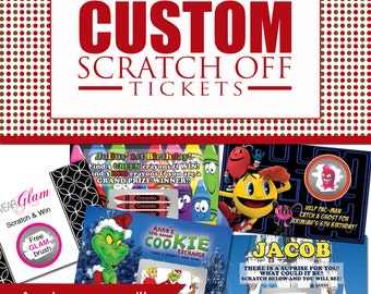 Custom scratch off ticket party game