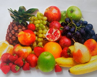 "New Hand Cut Wooden Jigsaw Puzzle ""Fruits"" (159 pcs) in Wooden box"