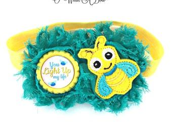 Bug Baby Headband, Firefly Hair Clip, Firefly Baby, Firefly Headband, Lightening Bug, Baby Hair Clip, Baby Headband, Baby Head Band