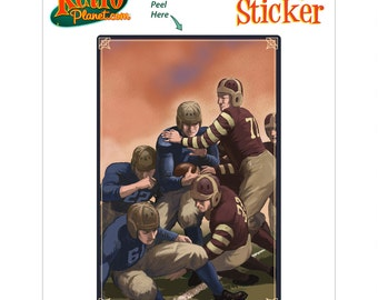 Football Player Tackling Vinyl Sticker - #66251