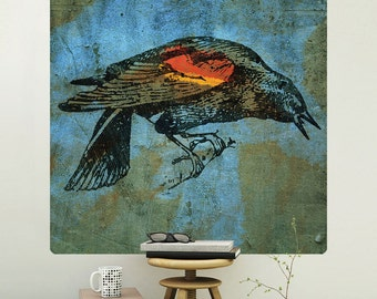 Redwing Blackbird Rustic Wall Decal - #62984