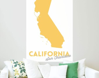 San Francisco California Heart Wall Decal - #66396