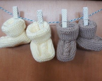 Cable Knit Baby Booties