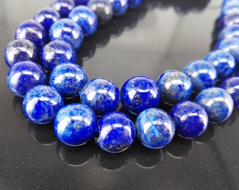 Full Strand Approx. 52pcs 8mm Smooth Round Beads Natural Lapis Beads 8mm Lapis Beads