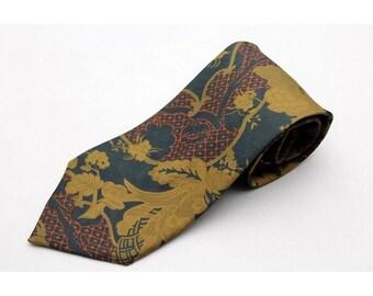 Vintage Cerruti 1881 Floral Mens Neck Tie