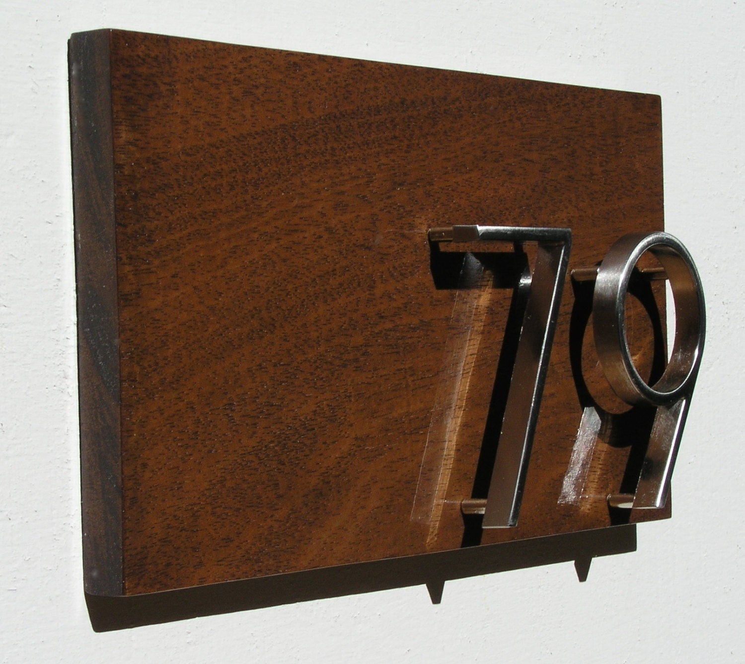 Oversized house numbers plaque mid century address sign for Mid century modern address numbers