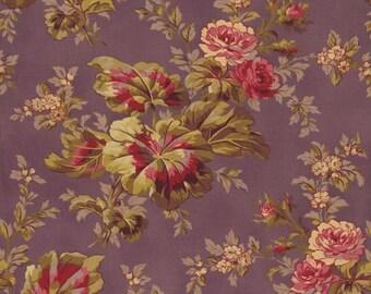 RJR Fabrics Espirit Maison 2467 04 Large Purple Floral Yardage by Robyn Pandolph