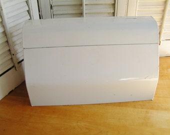 Vintage Retro Mid Century Painted White Metal Kitchen Dispenser For Paper  Towels Foil Wax Paper