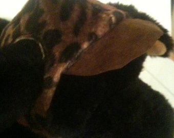 Brown Leopard Dog Hat