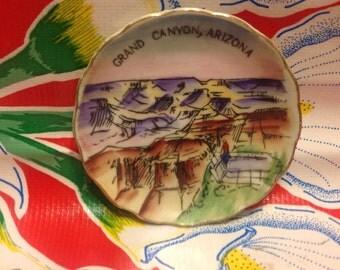 Vintage hand painted miniature Grand Canyon souvenir plate