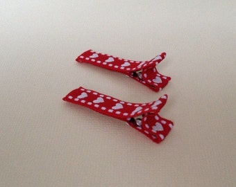 Set Of Two Heart Valentine's Day Baby/Toddler Clippies