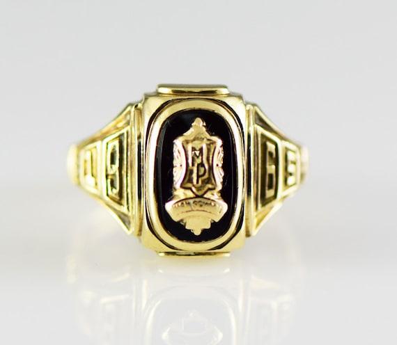Vintage High School Class Ring 1965 MP High School 10K Gold
