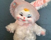 Rushton Star creations Rubber face Easter bunny Doll 1950's