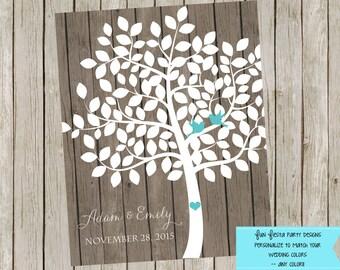 Wedding Guest Book Tree- Digital File