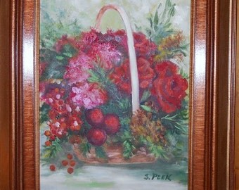 Christmas Roses Basket
