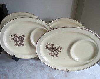 Pfaltzgraff Village Oval Snack Trays