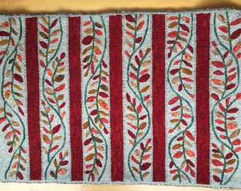 Autumn Vines hooked rug