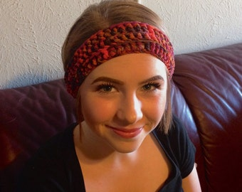 Mixed reds headbands