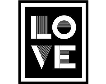 Love Wall Decor Print - Modern Love - Bedroom Decor - Home Decor - Wall Art - Bedroom Print - Wall Prints - LOVE Print