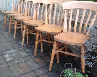 Six farmhouse kitchen chairs