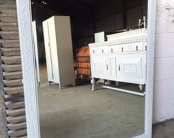 Large overmantel wall mirror