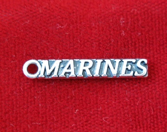 """BULK! 30pc """"marines"""" charms in antique silver (BC803B)"""