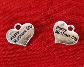 "5pc ""Happy Mothers day"" charms in antique silver style (BC1040)"