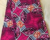 African print colourful fabric with circles detail; kente cloth, ntwoma, ankara prints; one yard