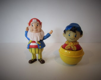 Rare Noddy Big Ears Wobble Plastic And Noddy Rolly Polly plastic toy figures - Working / MEMsArtShop.