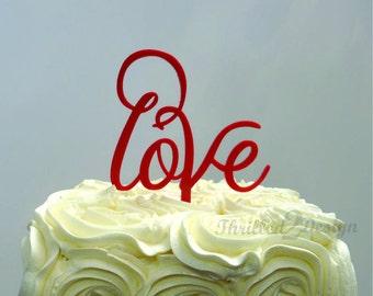 4 inch Love Cake Topper - Wedding, Celebrate, Party, Cake Decoration