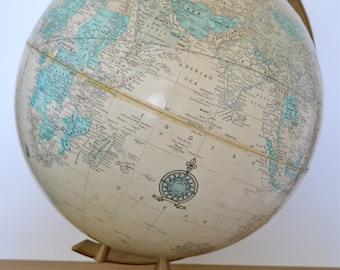 Crams Imperial World Globe -- Heirloom Tan Coloring -- Beautiful!