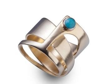 ON SALE 14k Gold rings for women - 14k Gold rings - 14k Gold - Asymmetrical 14k gold ring