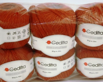 Gedifra Belato 50 g ca. 90m Made in Ialy 6 total.  D-73081 Salach