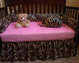Zebra Baby Bedding Brown Zebra Safari Crib
