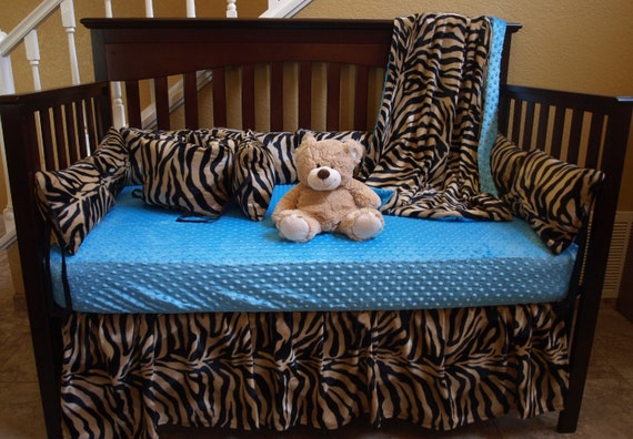 Zebra Baby Bedding Brown Zebra Safari Crib