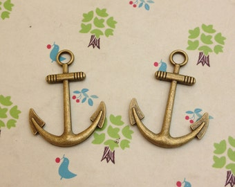 20 Pcs 30mmx40mm Antique Bronze Anchor Charm Nautical Charm Sailor Charm Pirate Vintage Style Pendant Charm