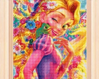 Tangled Rapunzel - cross stitch pattern - PDF pattern - instant download!
