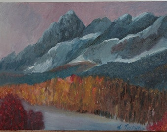 Mountains Art Oil Painting