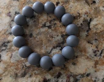 Grey teething bracelet