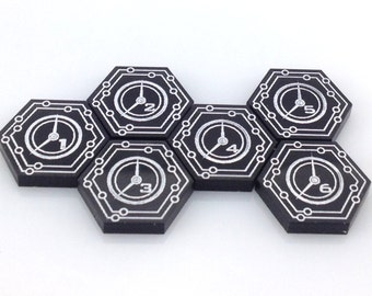 Android: Netrunner click tokens (6 pieces) - 26 colours
