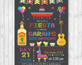 Mexican Fiesta Birthday Invitation, Fiesta Invite, Cinco de mayo invite, Fiesta party, Mexican Invite, Digital Printable Invitation