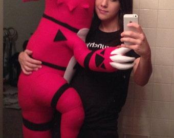 Custom life sized guilmon digimon tamers plush cosplay prop plushie