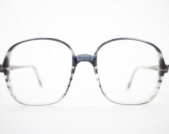 Vintage Eyeglass Frame   Oversized Clear Grey Stripe   Round 80s Glasses Frames   Vintage Deadstock   Nerd Glasses  - Oxford 3